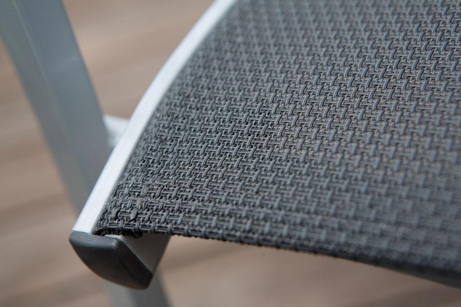 Materialmuster Textilene bei Gartenstühle – ZEOTTEXX Gartenmöbelausstellung in Bolheim