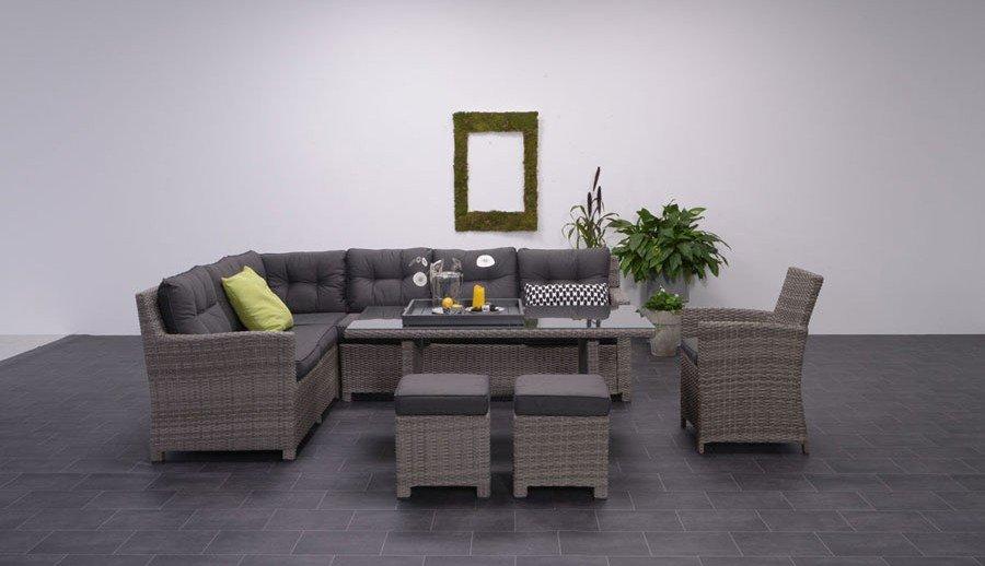 Exklusive Gartenmöbellounge Möbel aus Polyratten bei ZEOTTEXX Gartenmöbelausstellung