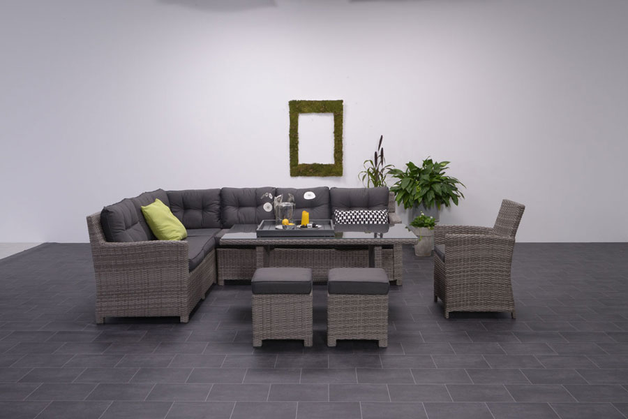 moderne polyrattan loungem bel und loungegarnituren. Black Bedroom Furniture Sets. Home Design Ideas