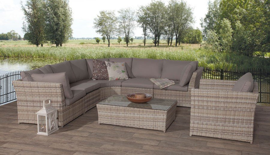 Exklusive Outdoor Gartenmöbellounge Möbel aus Polyratten bei ZEOTTEXX Gartenmöbelausstellung