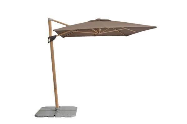 Sonnenschirm mit Holz und Sonnenschirmständer