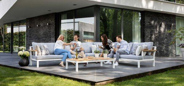 Apple-Bee-Lounge weiß und grau