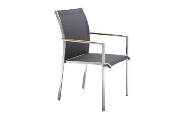 Stuhl dunkel und puristisch