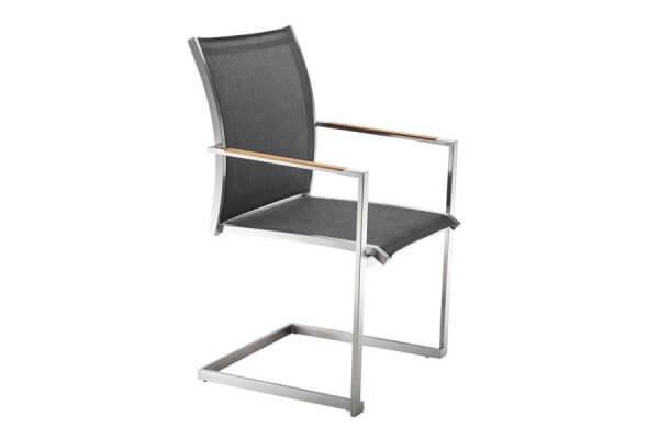 Stuhl dunkel mit eckiger Lehne