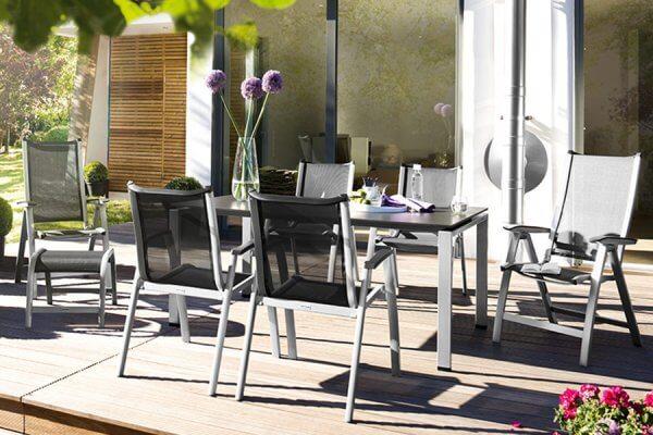 Forma silber, Tisch und Gartenstühle