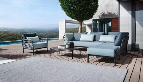 Lounge mit Tisch für Terrasse