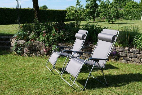 Oasi Relax Gartensessel bei ZEOTTEXX in grau mit Nackenstütze