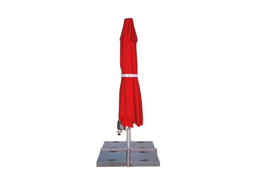 Sonnenschirm zum Einklappen in rot