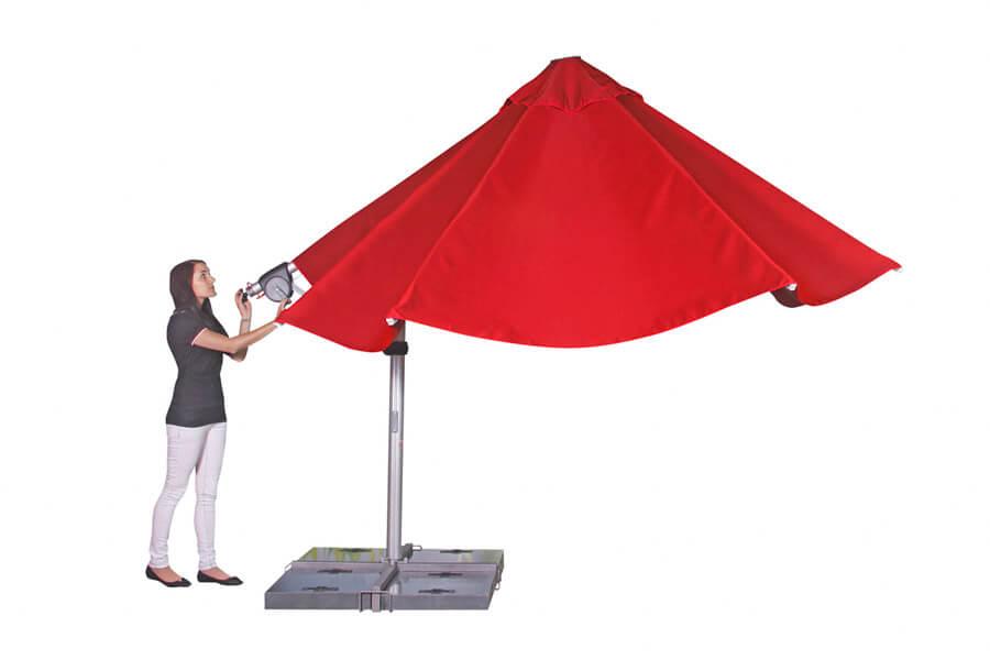 Sonnenschirm mit einfacher Bedienung