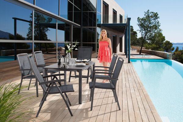 SIEGER Gartentisch und Gartenstühle TRENTO