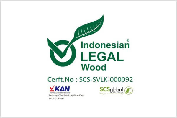 Indonesian LEGAL Wood Zertifikat für ZEOTTEXX GmbH