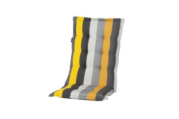 Polster-Auflage mit gelben und grauen Streifen