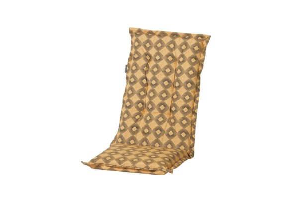 Gartenstühle Polsterauflagen mit brauner Musterung