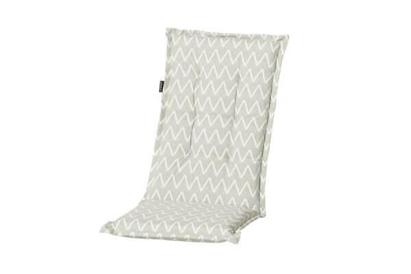 Gartenstühle Polsterauflagen beige mit weißem Muster