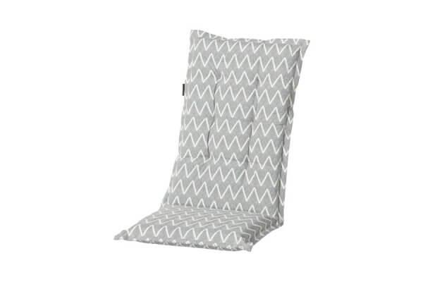 Gartenstühle Polsterauflagen hellgrau mit weißem Muster