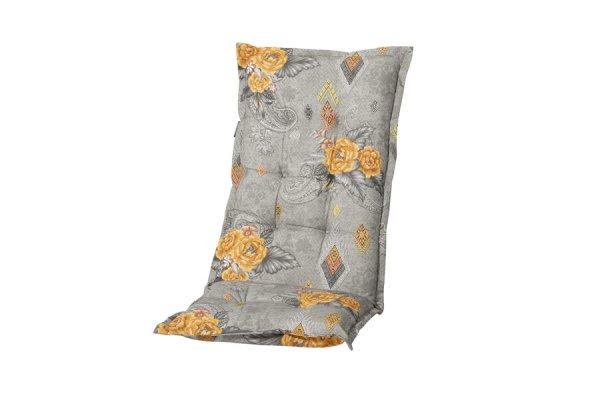Gartenstühle Polsterauflagen grau mit Blumenmuster