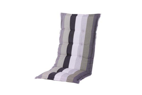 Gartenstühle Polsterauflagen gestreift schwarz, weiß, grau, grün