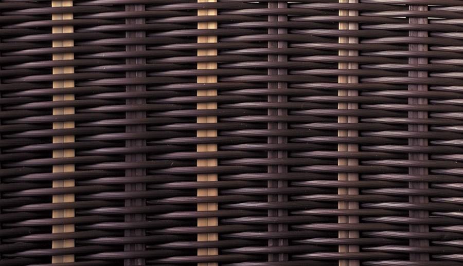 Materialmuster Polyrattan Loungemöbel – ZEOTTEXX Gartenmöbelausstellung in Bolheim